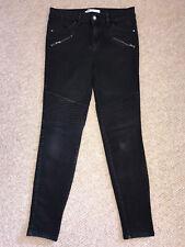 Zara Skinny Biker Jeans - Black Size 8