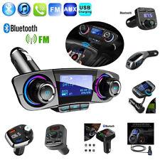 Bluetooth 5.0 Manos Libres Coche Kit Transmisor Fm MP3 Estéreo Jugador Cargador