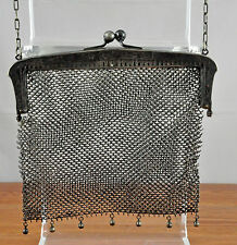 Vintage German Silver Chain Mesh Lady's Purse / Evening Bag - FOR REPAIR/PARTS