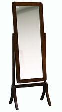 Espejo de pie para vestidor en madera maciza de mindi de la serie Geko