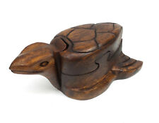 Wood Puzzle Box Sea Turtle Handmade Decorative Wooden Jewelry Trinket Box