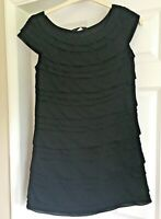 Lovely Ladies Little Black Dress French Connection Shift Dress Party Size M