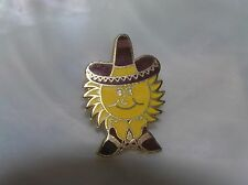 with Sombrero Goldtone Tie Tac Hat Estate Brown & Yellow Enamel Sunshine Cowboy
