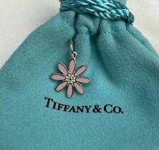 Tiffany&Co. Sterling Silver 925 Pink Enamel Daisy Flower Charm