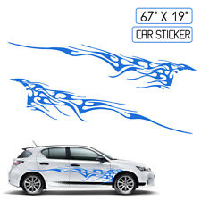 BLUE 102''X14'' Car Decal Vinyl Graphics Two Side Stickers Body Decals Sticker
