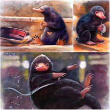 LIMITIERTER DRUCK/LIMITED PRINT OF WATERCOLOR ART NIFFLER FANTASTISCHE TIERWESEN