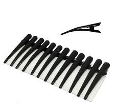 Lot de 10 mini pinces à bec noirs pour cheveux longueur 4cm - cranté - crocodile