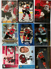 Eric Lindros lot of 9 insert Hockey cards.