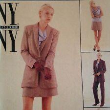 McCalls 1990s Misses Jacket Skirt Top Pants Suit Pattern 9572 Uncut Sz 12 Cowl