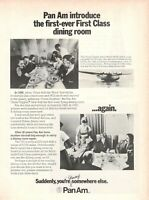 1972 Original Advertising' Vintage Pan-Am American Airways First Class