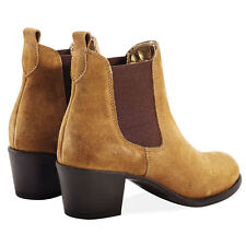 Suede Ankle Boots Cuban Heel Casual Shoes for Women