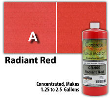 Professional Easy To Apply Water Based Concrete Stain Radiant Red
