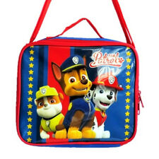 PAW PATROL BOYS CHILDREN INSULATED THERMAL LUNCH BAG SHOULDER STRAP BOX SCHOOL