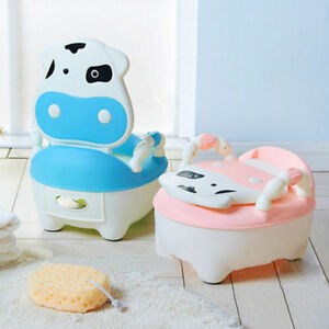 Training Potty Trainer Safety Kids Baby Toddler Toilet Cute Cartoon Seat Chair