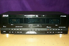 Pyle Stereo Dual Cassette Deck Pt-649D Tested Working!