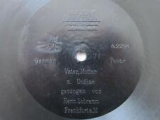 "78rpm E. BERLINER GRAMOPHONE 7"" - HERMANN SCHRAMM (Tenor) sings LORTZING UNDINE"