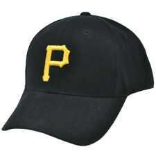MLB Baseball Pittsburgh Pirates Semi Constructed Fitted Curved Bill Hat Cap