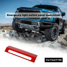 Emergency Warning Light Control Switch Panel Decor Cover For Ford F150 2015+ Red