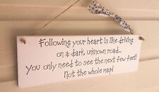 Handmade Heart Inspirational Decorative Plaques & Signs