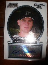 Chris Volstad Marlins Bowman Sterling 2005 Autograph Rookie Card