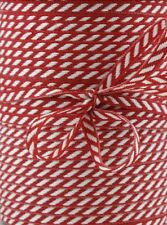 Red & White Skinny Candy Stripe Grosgrain Ribbon Shabby Chic Xmas 3mm - 3 Metres