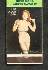 1960s Matchbook Sexy PinUp Off with Bra Washington Fire & Hose No. 2 Danville PA