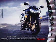 2005 Kawasaki Ninja ZX-10R Zyklus-Vintage Werbung ad A9-B