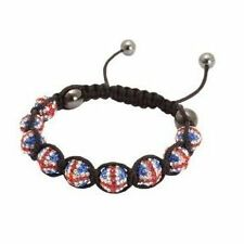 UNION JACK SHAMBALLA BRACELET CRYSTAL DISCO BALL Friendship Gift Clay Paris