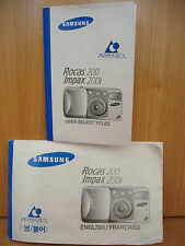 Samsung rocas 200 ~ Impax 200i APS film camera instruction et titre Manuel 5MY13