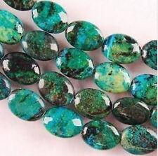 "13x18mm Azurite Chrysocolla Gemstones Oval Loose Beads 15"""
