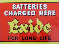 Exide Batteries car/motorcycle vintage style Metal Sign