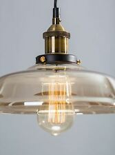 Modern glass lampshade champagne kitchen bar lights ceiling pendant light