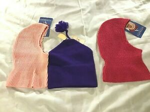 Lot of 3 New With Tag  Capello Canada Wool Knit Nordic Ski Winter Hat