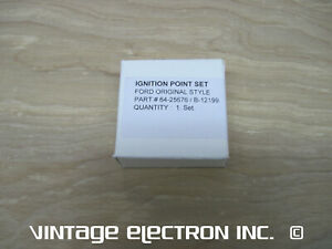 NEW Ignition Point Set (Original Style): Ford Model B BB 4 Cylinder 1932 - 1934