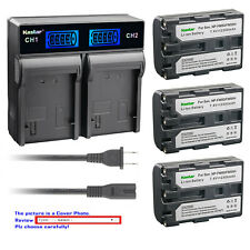 Kastar Battery LCD Rapid Charger for Sony NP-FM50 & Cyber-shot DSC-F828 DSC-R1
