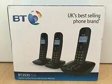 BT 3930 Trio Cordless Phone with Answering Machine 3 Handsets