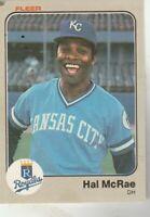 FREE SHIPPING-MINT-1983 Fleer #119 Hal McRae Kansas City Royals PLUS BONUS CARDS