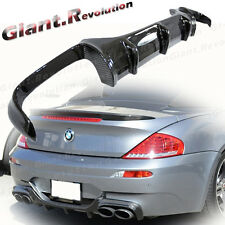 V Style Carborn Rear Lower Bumper Diffuser For BW 06-10 M6 E63 Coupe Convertible