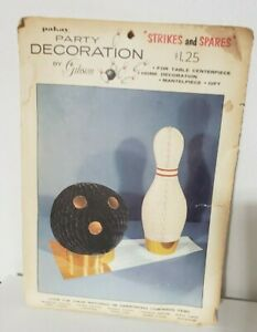 Strikes and Spares Vintage Bowling  Pin & Ball Party Decoration Pakay by Gibson