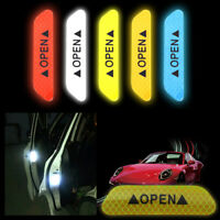 4Pcs Safety Reflective Tape Open Sign Warning Mark Car Door Stickers Accessory