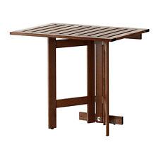RISPARMIO di spazio Ikea ÄPPLARÖ gateleg tabella per muro, Outdoor, marrone macchiato 80x56cm