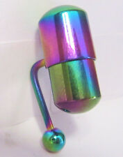 Rainbow Titanium Vibrating VCH Barbell Piercing Jewelry 14 gauge 14g