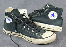 Converse All Star Chuck, talla 44,5, UK 10,5, negro, canvas/lona, used