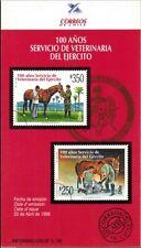 Chile 1996 Brochure 100 años Servicio de Veterinaria del Ejercito