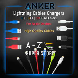 Anker cable 8 pin fast charger for Phone 5 6 s 7 8 11 Pack lot or Single Colors