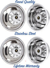 "16"" FORD F53 F450 10 LUG BOLT ON WHEEL SIMULATORS MOTORHOME RV RIM COVER SET 4 ©"