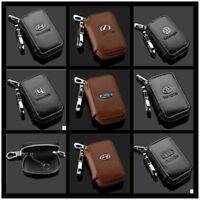 NEW Cowhide Genuine Leather Car Logos Keyring Key Chain Bag Keyfob Pendant