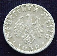 50 Reichspfennig 1939 D Drittes Reich HK selten Ex600.000 RARITÄT! TOP Dt. Reich
