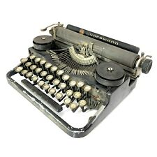 Very Early Underwood Portable Typewriter Antique Classic Black Vtg 3-Bank