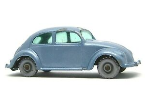 Matchbox Lesney 25b Volkswagen Beetle (RARER SILVER PLASTIC WHEELS)